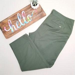 WHBM Army Green Slim Ankle Pants